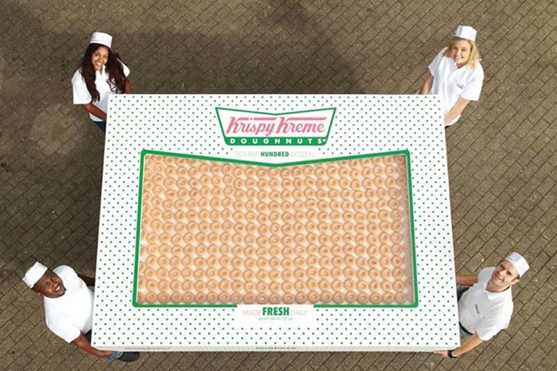a box of 2,400 Krispy Kremes