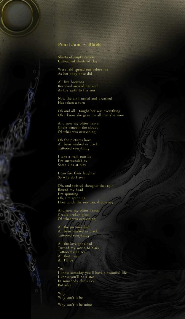 The Rearview Mirror: Pearl Jam ~ Black | NTFcreative