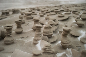 Sandcastles Lake Michigan